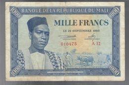 Mali 1000 Francs 22 Septembre 1960  Pick#4 Lotto.1723 - Malí