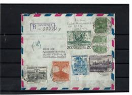 CTN63 - COLOMBIE LETTRE AVION RECOMMANDEE POUR LE MAROC MARS 1956 - Colombie