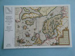 Bateaux 1984 Islande Yv BF6  ** MNH Michel B6 Scott 590  SG 645  Ships  Carte Map - Blokken & Velletjes