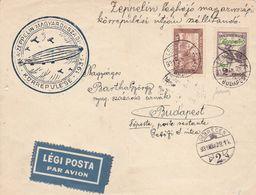 Ungheria - Frontespizio Ko'rrepule'se - 1931 - Zeppelin ( Firmato Merone ) - Luftpost