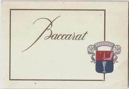 BACCARAT Cristallerie - Pochette Avec 13 Cartes Et Carte D'invitation 1955 - Baccarat