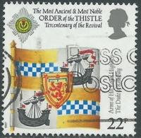1987 GRAN BRETAGNA USATO STEMMI ARALDICI THISTLE 22d - RC60 - Used Stamps