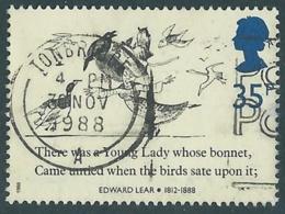 1988 GRAN BRETAGNA USATO EDWARD LEAR 35d - RC60-2 - Usati