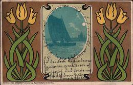 ! 1903 Künstlerkarte , Jugendstil, Art Nouveau, Blumen, Verlag Theo Stroefer, Nbg, Serie 51, No.2, Nachgebühr, Ilfeld - 1900-1949