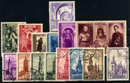 Bélgica Nº 477A, 513/18, 519/26. Año 1938/39 - Belgique
