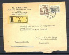 Enveloppe Recommandée 1933 R256 AUTRICHE OSTERREICH Cachet Wien Timbres DURNSTEIN Et NATIONAL BIBLIOTHEK - Storia Postale