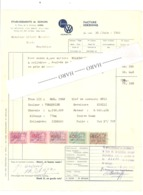 Facture - Ets M. SCHIJNS - Garage -  Automobile, VW - Porsche, Studebaker - 1962 - Belgien