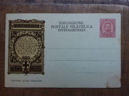 REGNO - Cartolina Postale Commemorativa Expo Filatelica - Nuova (macchia) + Spese Postali - 1878-00 Umberto I