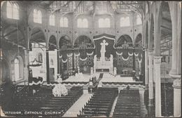 Interior, Catholic Church, Castries, 1911 - Postcard - Sainte-Lucie