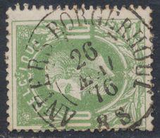 """émission 1869 - N°30 Obl Double Cercle """"Anvers Borgerhout"""" (1876) / Collection Spécialisée. - 1869-1883 Leopold II."""