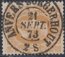 """émission 1869 - N°33 Obl Double Cercle """"Anvers Borgerhout"""" (1876). Superbe ! / Collection Spécialisée. - 1869-1883 Leopold II."""
