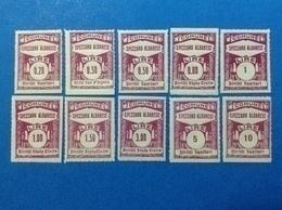 ITALIA LOTTO 10 MARCHE DA BOLLO NUOVE MNH** EPOCA FASCISTA LOCAL MUNICIPAL STEMPELMARKE FISCAUX REVENUE TAX - Revenue Stamps