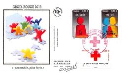 FRANCE. FDC. N°207193. 07/11/2013. Cachet Paris. Croix Rouge. Ensemble Plus Forts. Signé Baras - 2010-....