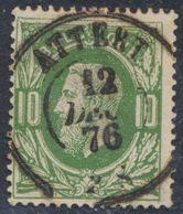 """émission 1869 - N°30 Obl Double Cercle """"Attert"""" (1876). COBA : 30 / Collection Spécialisée. - 1869-1883 Leopold II."""