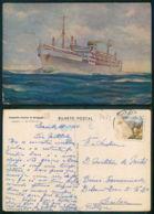 BARCOS SHIP BATEAU PAQUEBOT STEAMER [ BARCOS # 03453 ] - PORTUGAL - COMPANHIA COLONIAL NAVEGAÇÃO - IMPERIO 12 958 - Steamers
