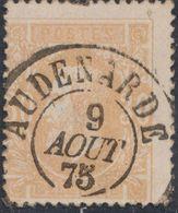 """émission 1869 - N°33 Obl Double Cercle """"Audenarde"""" (1874) . Superbe / Collection Spécialisée. - 1869-1883 Leopold II."""