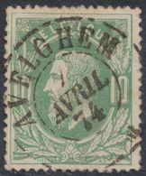 """émission 1869 - N°30 Obl Double Cercle """"Avelghem"""" (1874) . Superbe / Collection Spécialisée. - 1869-1883 Leopold II."""