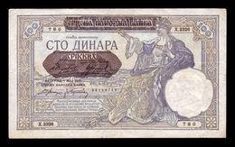 Serbia 100 Dinara 1929 (1941) Pick 23 MBC VF - Serbia