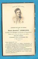 FAIRE PART DECES MILITAIRE 15  DECEMBRE LOUVEMONT  1916 CAPORAL 8 EME REGIMENT TIRAILLEURS DE MARCHE  WWI - Documents