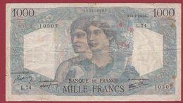 """1000 Francs """"Minerve  Et Hercule """" Du 12/07/1945.B ----ALPHA .L.74... Dans L 'état Voir Scan - 1871-1952 Frühe Francs Des 20. Jh."""