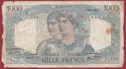 """1000 Francs """"Minerve  Et Hercule """" Du 23/08/1945.T ----ALPHA .A.115... Dans L 'état Voir Scan - 1 000 F 1945-1950 ''Minerve Et Hercule''"""