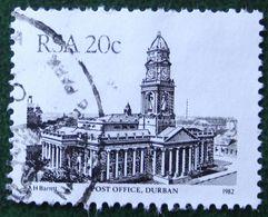 Architecture 20c Post Office Durban 1982 Mi 612 Y&T 522 Used Gebruikt Oblitere SUD SOUTH AFRICA RSA - África Del Sur (1961-...)
