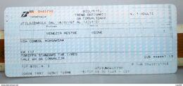Ticket Italia Biglietto Treno Ordinario Km 127 Tratta Venezia Mestre /  Udine  2007 - Chemins De Fer
