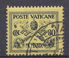 Vatikaan 1929  Mi.nr. 5  Papst  Pius XI  OBLITÉRÉS-USED-GEBRUIKT - Oblitérés