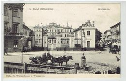 WARSZAWA - Warchau - B. Palac Brühlowski - Powozy - Koetsen - Pologne