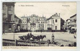 WARSZAWA - Warchau - B. Palac Brühlowski - Powozy - Koetsen - Polonia