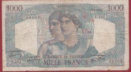 """1000 Francs """"Minerve  Et Hercule """" Du 07/03/1946.T ----ALPHA .U.235. Dans L 'état Voir Scan - 1871-1952 Frühe Francs Des 20. Jh."""