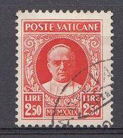 Vatikaan 1929  Mi.nr. 11  Papst  Pius XI  OBLITÉRÉS-USED-GEBRUIKT - Oblitérés