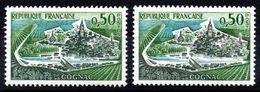 YT N° 1314 + 1314b  3 Péniches Parties - Neufs ** - Varieties: 1960-69 Mint/hinged