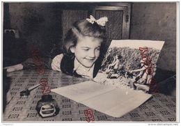 Fixe Guerre D'Indochine 1954 Propagande La Petite Fille écrit à Son Grand Frère Militaria Intérieur Maison Plume Encre - Guerre, Militaire