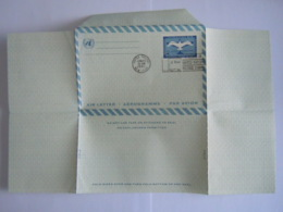 UN UNO United Nations New York Aerogramme Stationary Entier Postal Air Letter 1961 First Day Of Issue - Poste Aérienne