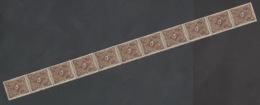 Deutsches Reich 208W 11er Streifen ** Postfrisch 1x In Der Perforation Gefaltet - Unused Stamps