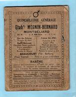 Livret 32 Pages Publicité Quincaillerie Générale MEGNIN BERNARD MONTBELIARD BEAUCOURT - Advertising