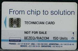 ISRAEL  2008 BEZEQ TECNICIAN PHONECARD MINT VF!! - Israel