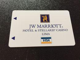 Hotelkarte Room Key Keycard Clef De Hotel Tarjeta Hotel  JW MARRIOTT AND STELLARIS CASINO  LIMA - Télécartes