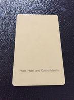 Hotelkarte Room Key Keycard Clef De Hotel Tarjeta Hotel  HYATT HOTEL AND CASINO  MANILA - Télécartes