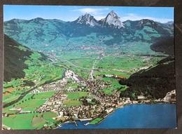 Brunnen Von Oben/ Im Hintergrund Schwyz Mit Den Beiden Mythen - SZ Schwyz