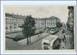 XX10181/ Bad Homburg Luisenstraße Straßenbahn Omnibus  Ca.1938 AK - Deutschland