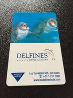 Hotelkarte Room Key Keycard Clef De Hotel Tarjeta Hotel  DELFINES SAN ISIDRO  LIMA - Télécartes