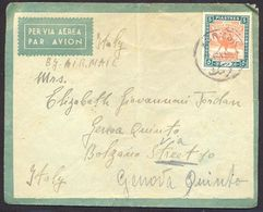 Sudan, 5 Piastres Camel Singleton Franking On 1947 Cover To Italy   -K36 - Soudan (...-1951)