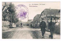 CPA : Militaria - En Alsace , Nos Troupes  - Guevenatten  - Beau Cachet Traubach Le Bas - Régiments
