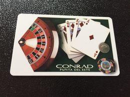 Hotelkarte Room Key Keycard Clef De Hotel Tarjeta Hotel  CONRAD PUNTA DEL ESTE URUQUAI - Télécartes