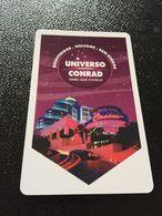 Hotelkarte Room Key Keycard Clef De Hotel Tarjeta Hotel  CONRAD PUNTA DEL ESTE URUQUAI - Phonecards