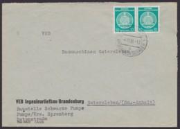 """Mi-Nr. 35, MeF, Bedarfsbrief """"Schwarze Pumpe, Großbauvorhaben"""", 4.11.58 - Service"""