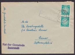 """Mi-Nr. 35, MeF, Landpost """"Isserstedt über Jeba"""", Apt. Stempel """"Jena 1"""", 1957 - Service"""
