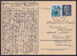 Mi-Nr. P62, Mit Pass. Zusatzfrankatur, Reiner Bedarf Nach Wien - [6] República Democrática